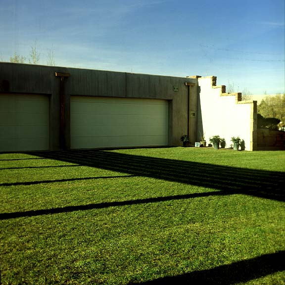 Pervious-Grass Paving was installed in the parking area of this Camel Back Ridge Residence in Colorado Springs, Colorado, using Grasspave2.