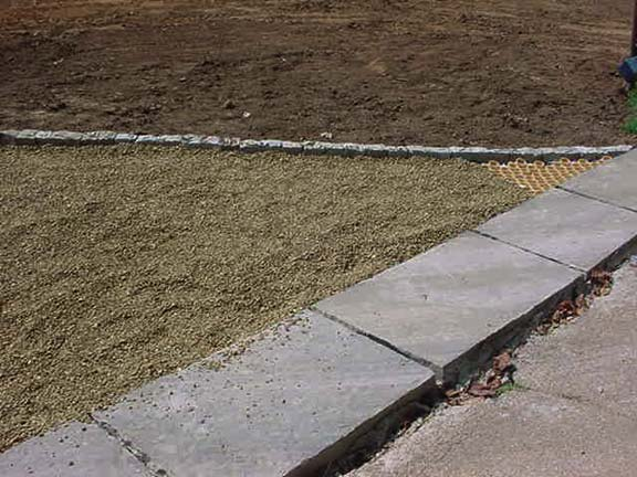 Permeable Pavement was installed in this residential driveway, using Gravelpave2.