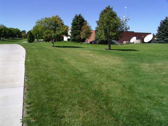 A Grass-Reinforcement System was installed on each side of the sidewalk to create a fire lane, using Grasspave2.