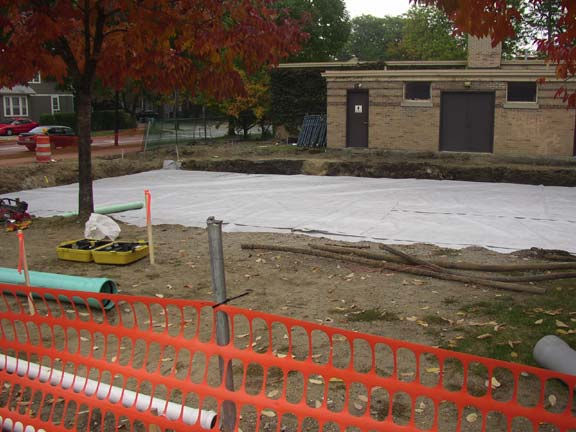 A Subsurface Cistern was installed at the University of Michigan Elbel Field, Ann Arbor, Michigan, using Rainstore3.