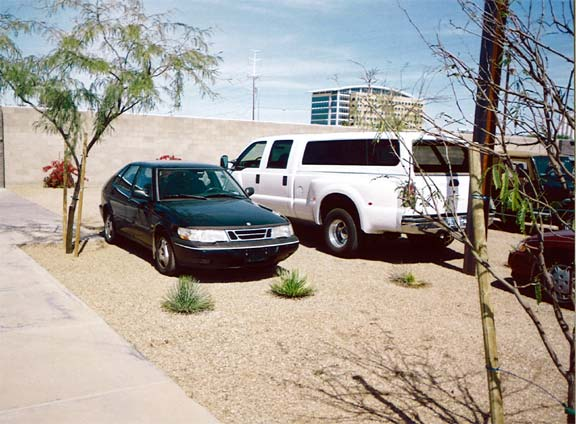 Gravel Reinforcement was installed in the parking lot of Architectron in Tempe, Arizona, using Gravelpave2.