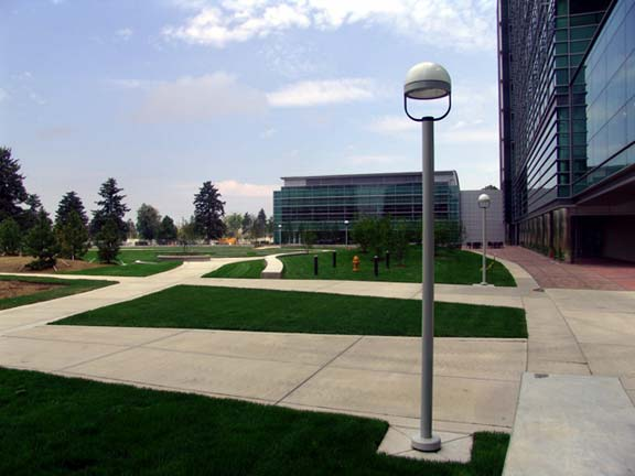 Pervious-Grass Paving was installed in the fire lane access areas at the University of Colorado Health Sciences Center, Aurora, Colorado, using Grasspave2.