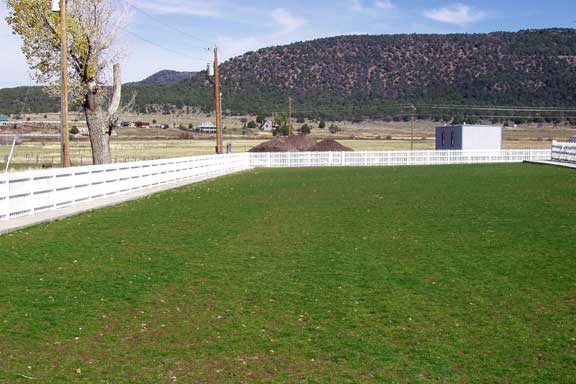A Turf-Reinforcement System was installed in the parking lot of Pine Valley LDS Church, Pine Valley, Utah, using Grasspave2.