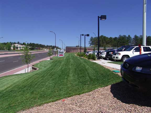 Pervious-Grass Paving was installed in the automobile display areas at Woodmen Nissan in Colorado Springs, Colorado, using Grasspave2.