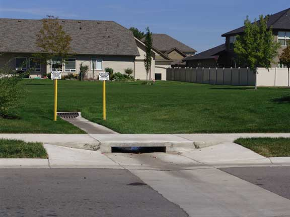 A Subsurface Cistern installed in the Countryside housing complex, Eagle, Idaho, using Rainstore3.
