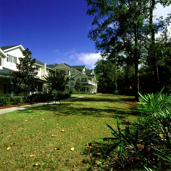 Grass-Reinforcement Mats were installed in the fire lane access areas at The Woods at Hollytree (Retirement Living) in Wilmington, North Carolina, using Grasspave2.