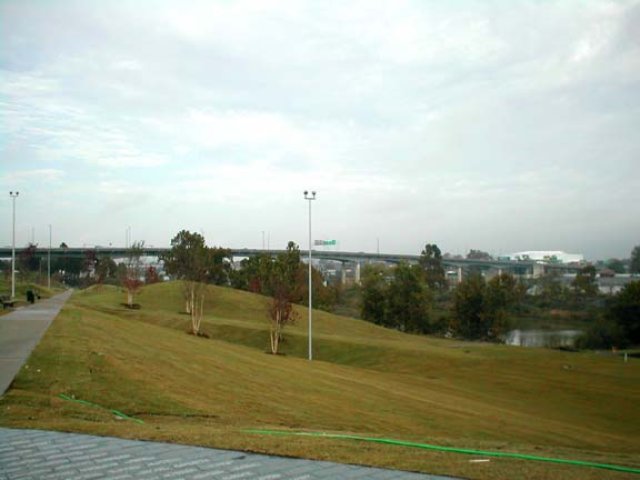 Grass Reinforcement was installed on the grounds of the Clinton Presidential Library in Little Rock, Arkansas, using Grasspave2.
