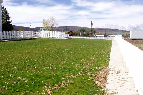 Pervious-Grass Paving was installed in the parking lot of Pine Valley LDS Church, Pine Valley, Utah, using Grasspave2.