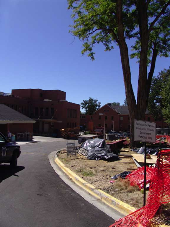 Subsurface-Stormwater Detention was achieved at the Veterans Administration Hospital, Boise, Idaho, using Rainstore3.