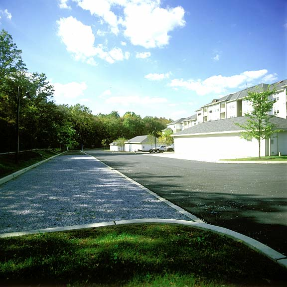 Gravel Pavers were installed in parking bays at Summit Valleybrook Apartment Homes in Concordville, Pennsylvania, using Gravelpave2.