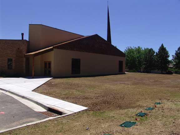 Stormwater Storage was installed at the Good Shepherd Episcopal Church, Centennial, Colorado, using Rainstore3.