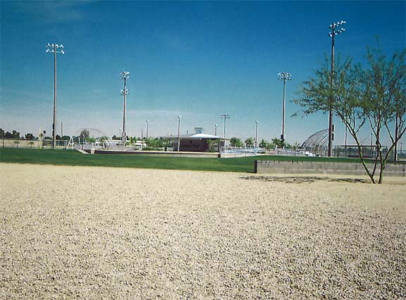Grass and Gravel Grid Paving were installed at Goodyear Community Park, using Grasspave2 and Gravelpave2.