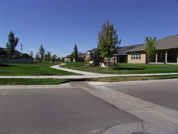 Underground-Water storage was installed in the Countryside housing complex, Eagle, Idaho, using Rainstore3.