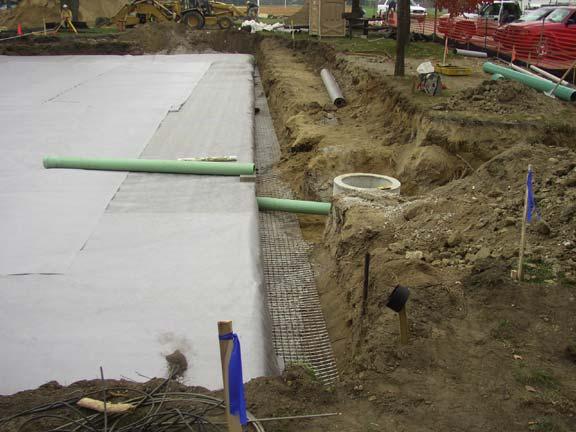 Underground-Water Detention was installed at the University of Michigan Elbel Field, Ann Arbor, Michigan, using Rainstore3.