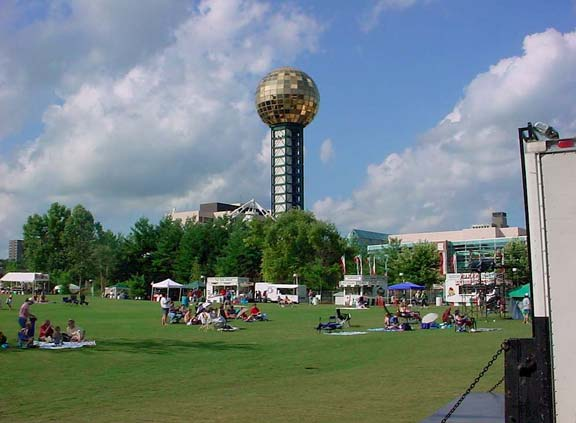 Grass-Porous Pavement was installed in the World's Fair Park Performance Lawn, Knoxville, Tennessee, using Grasspave2.
