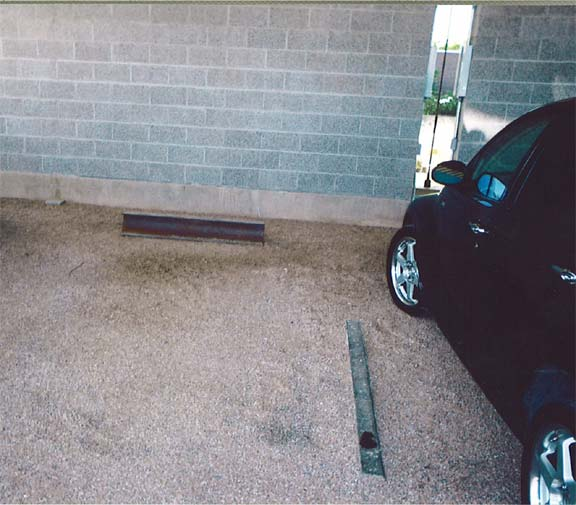 Porous Paving was installed in the parking areas of Architectron in Tempe, Arizona, using Gravelpave2.