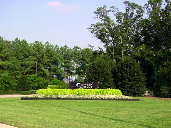 A Turf-Reinforcement System was installed in the fire lane access areas at SAS Computer Company in Cary, North Carolina, Grasspave2.