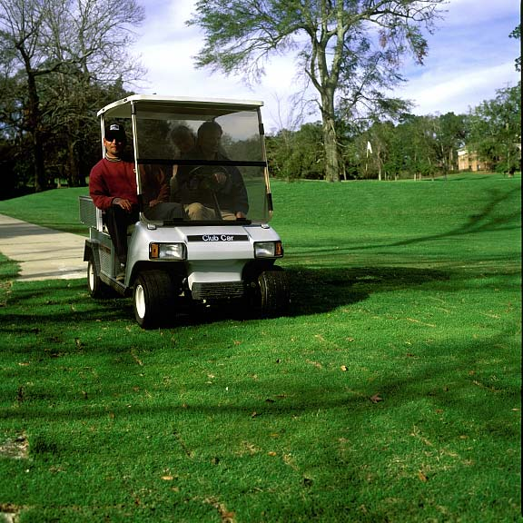 A Reinforced-Grass Cart Path and Drainage Layer were installed at Springhill College Golf Course in Mobile, Alabama, using Grasspave2 and Draincore2.