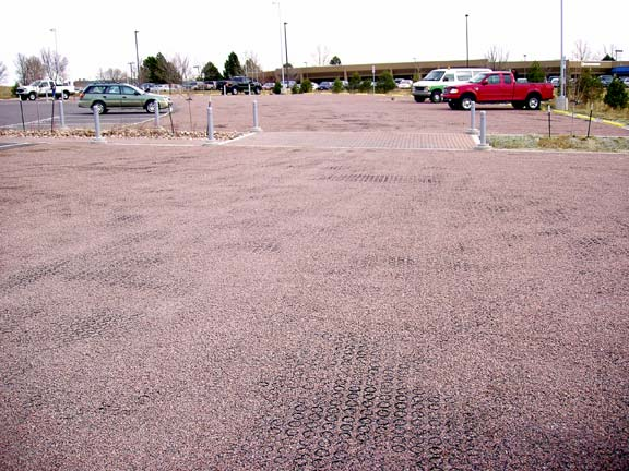 Aggregate Parking was installed in the parking lots at Pikes Peak Regional Development Center, Colorado Springs, Colorado, using Gravelpave2.