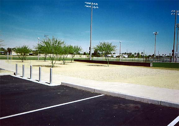 Aggregate and Grass Paving were both installed in the fire lane access areas at Goodyear Community Park, Goodyear, Arizona, using Gravelpave2 and Grasspave2.