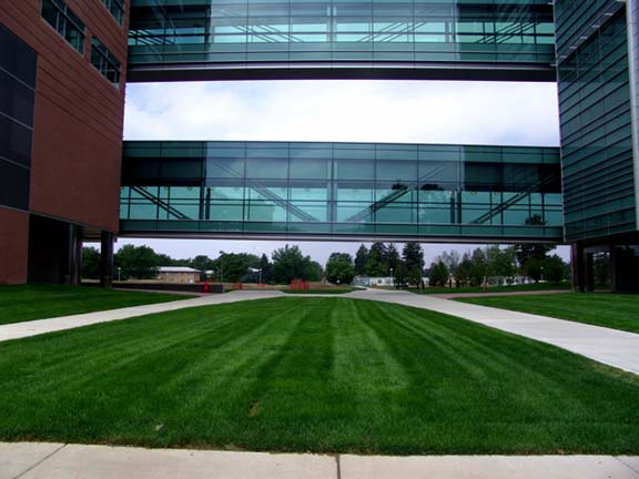 A Reinforced-Fire Lane was installed at the University of Colorado Health Sciences Center, Aurora, Colorado, using Grasspave2.
