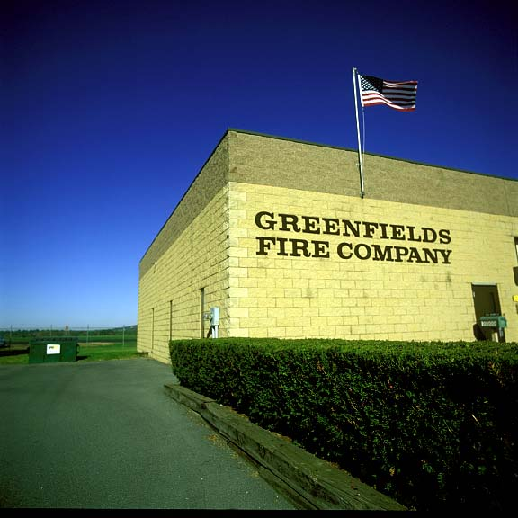 Pervious-Grass Paving was installed in the areas at Greenfields Fire Company, using Grasspave2.