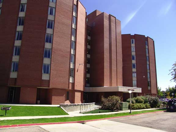Underwater-Stormwater Detention was installed at Boise State University, Barnes Towers Dorm, Boise, Idaho, using Rainstore3.
