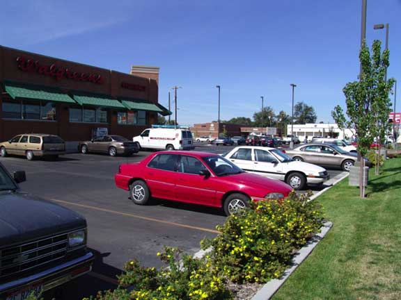An Underground-Water-Detention Pond was installed at Walgreens Pharmacy in Caldwell, Idaho, using Rainstore3.