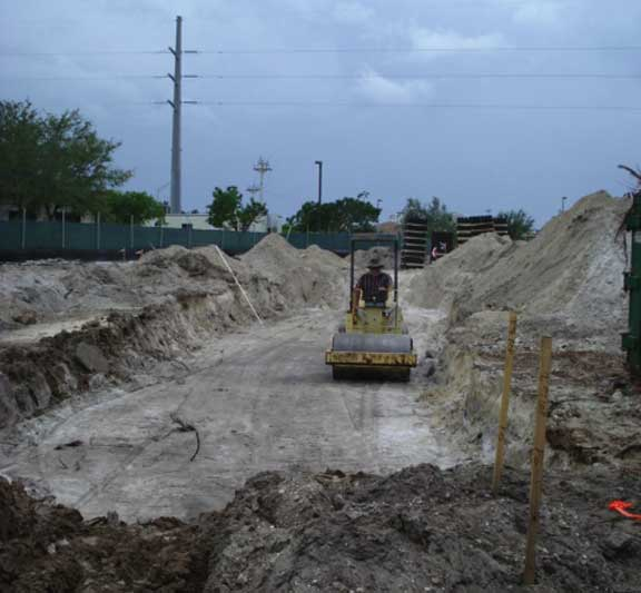 Underground stormwater retention was achieved by installing Rainstore3 under the asphalt parking lot at Marco Island City Hall and Police Station in Marco Island, Florida.