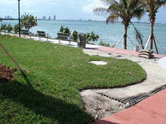 Porous Pavement was installed in the fire lane and utility access areas at Mount Sinai Hospital, Miami Beach, Florida.