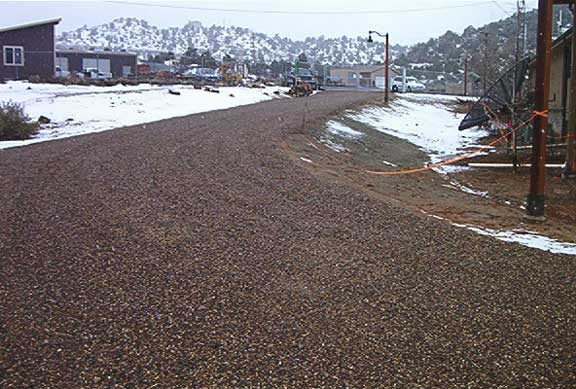 Aggregate Paving was installed in the parking areas and service roads at the Escalante Science Center in Escalante, Utah, using Gravelpave2.