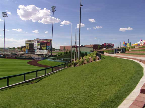 Slope Stablization was achieved at Isotopes Park Baseball Stadium, Albuquerque, New Mexico, using Slopetame2.