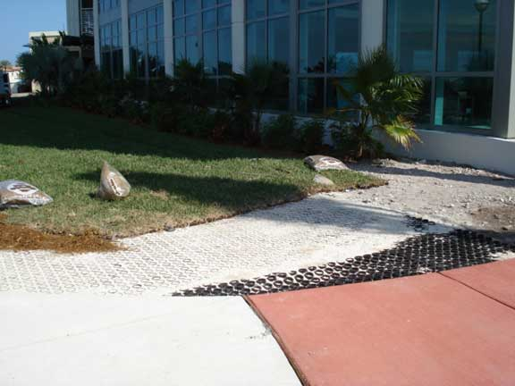 A Permeable Fire Lane was installed at Mount Sinai Hospital in Miami Beach, Florida, using Grasspave2.