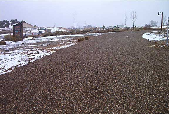 Permeable Paving was installed in the parking areas and service roads at the Escalante Science Center in Escalante, Utah, using Gravelpave2.