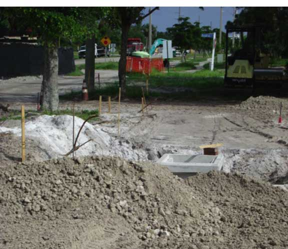 Water Harvesting and Storage was installed under the parking lot at the Marco Island City Hall and Police Station using Rainstore3.