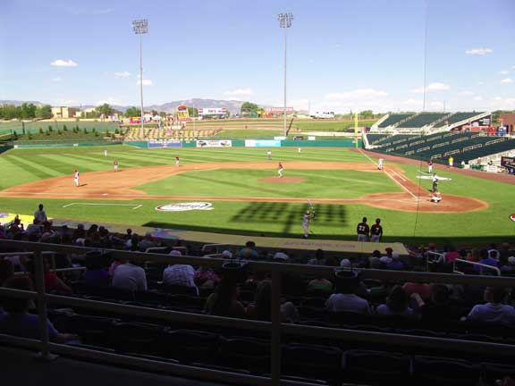 Slope-Erosion Control was achieved at Isotopes Park Baseball Stadium, Albuquerque, New Mexico, using Slopetame2.