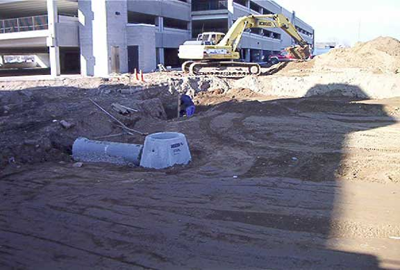 A Subsurface Cistern was installed at the Ogden City Entertainment Center, Ogden, Utah, using Rainstore3.
