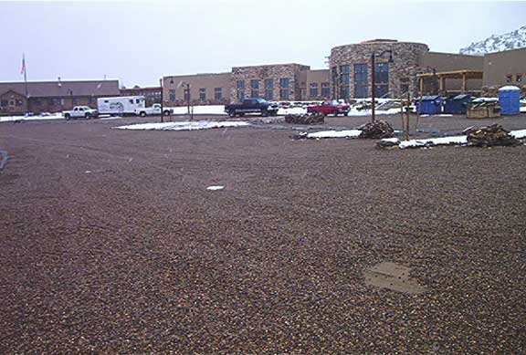 Reinforced Gravel Pavers were installed in the Escalante Science Center parking lots and service roads in Escalante, Utah, using Gravelpave2.