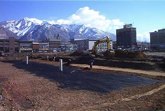 Rainwater Storage was achieved at the Ogden City Entertainment Center, Ogden, Utah, using Rainstore3.