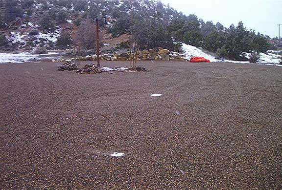 Porous Pavers were installed in the Escalante Science Center parking lots in Escalante, Utah, using Gravelpave2.