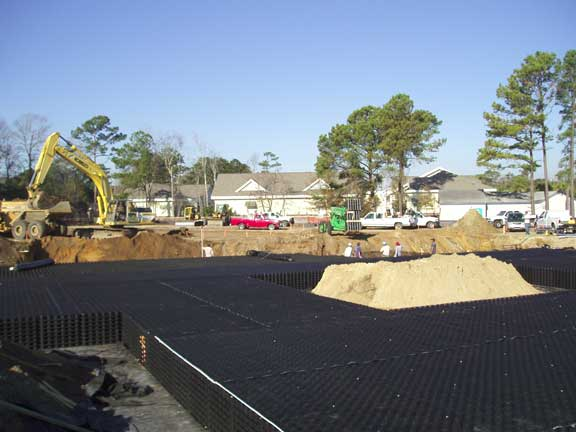A Subsurface Cistern was installed at Publix Supermarket, Mt. Pleasant, South Carolina, using Rainstore3.