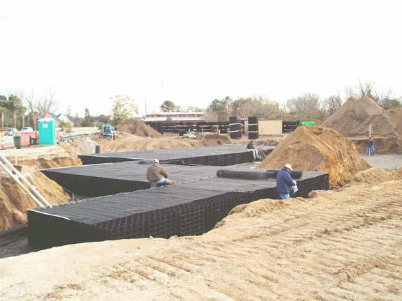 Underground-Rainwater Storage was installed at Publix Supermarket, Mt. Pleasant, South Carolina, using Rainstore3.