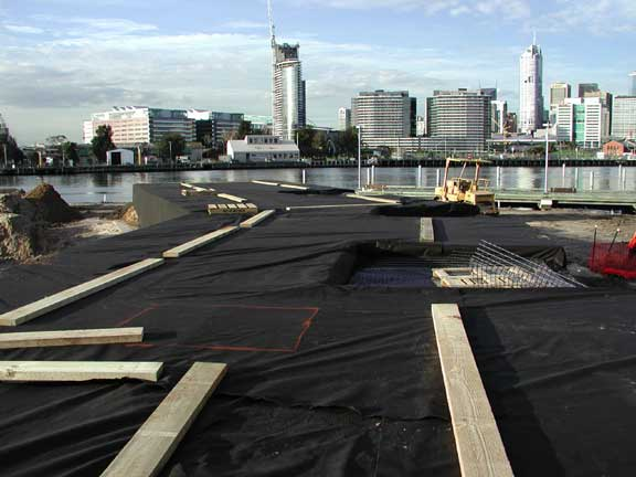 """A Stormwater Chamber was installed at Mirvac """"Banana"""" (Docklands), Melborne, Victoria, Australia, using Rainstore3."""