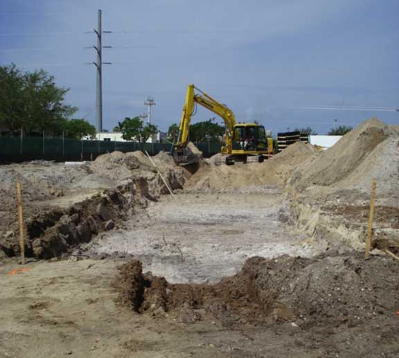 A subsurface-stormwater-storage system was installed under the asphalt parking lot at Marco Island City Hall and Police Station in Marco Island, Florida, using Rainstore3.