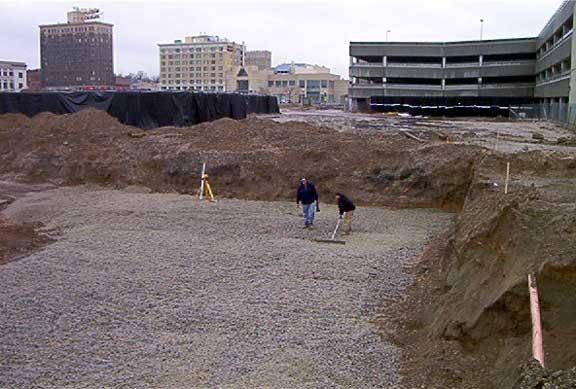 An Underground-Stormwater-Detention System was installed at the Ogden City Entertainment Center, Ogden, Utah, using Rainstore3.