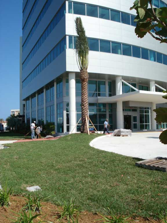 Grasspave2 was installed in the fire lane and utility access areas at Mount Sinai Hospital, Miami Beach, Florida.