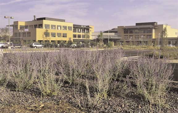 A Grass Fire Lane was installed at the Boulder Community Foothills Hospital in Boulder, Colorado, using Grasspave2.