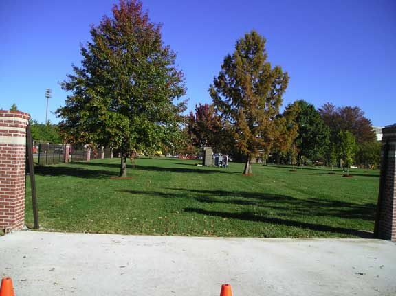 Grass Paving was installed for tailgate parking at Donald W. Reynolds Razorback Stadium, Fayetteville, Arkansas, using Grasspave2