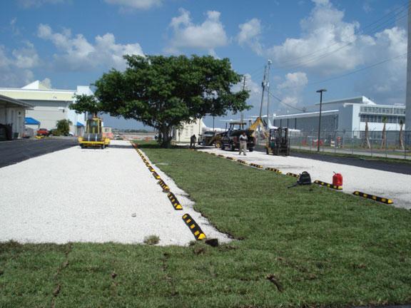 US Coast Guard Gravelpave2 permeable paver parking lot