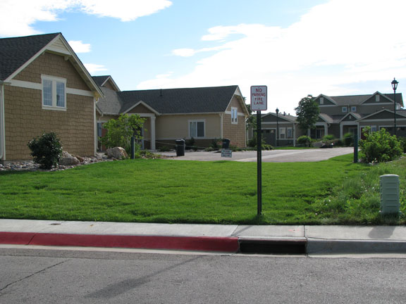A Grasspave2 fire lane allowed for the area to be considered porous and undeveloped and the county granted the easement.